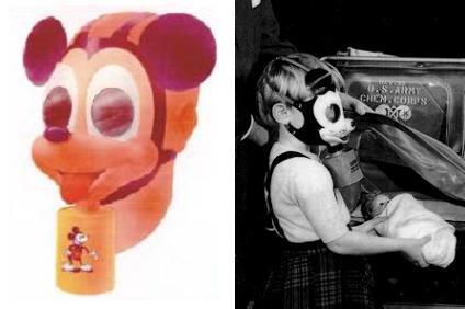 Máscara de protecção para gases alusiva ao rato Mickey